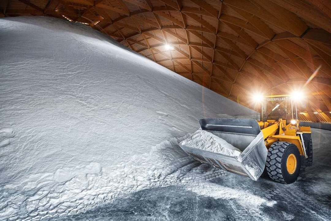 Mächtige Salzdome in Möhlin sorgen daf...geht. Hier lagern 250000 Tonnen Salz.   | Foto: Privat