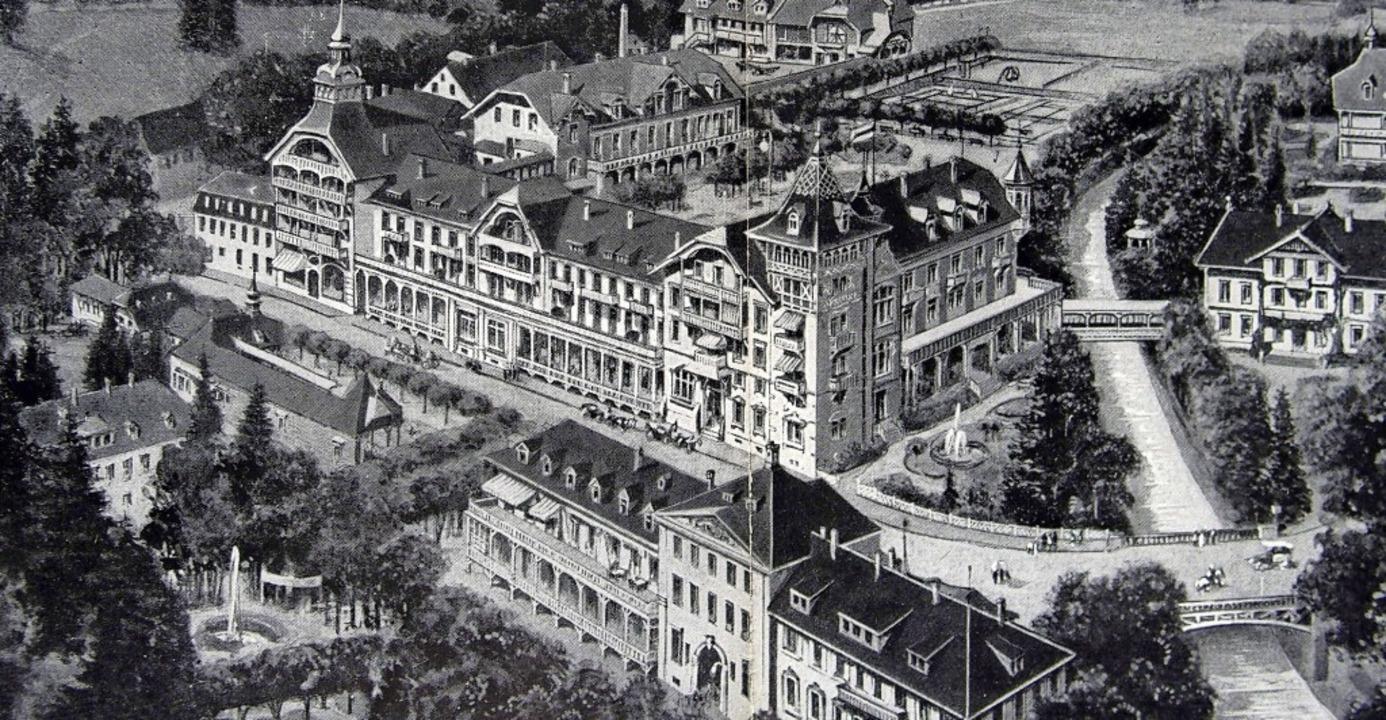 Das legendäre Kurhaus in St. Blasien, ...edrich-Luisen-Ruhe (später Sparkasse).    Foto: Thomas Mutter