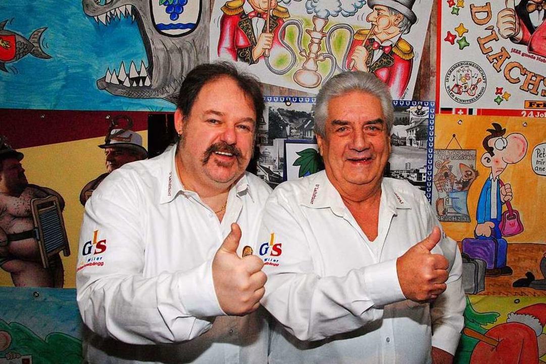 Stefan Arndt (links) und Peter Müller vor einigen ihrer Helgen  | Foto: Norbert Sedlak
