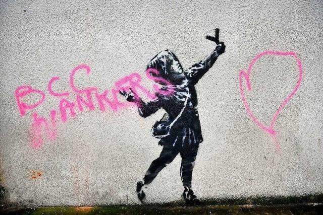 Banksys neues Streetart-Werk ist zerstört worden – nach nur 2 Tagen