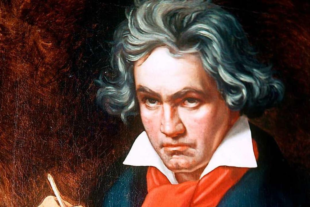 Ludwig van Beethoven, hier 1820 porträ... sehr unter  zunehmendem Gehörverlust.  | Foto: Bernhaut