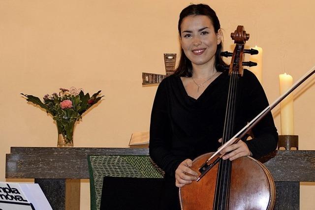 Natalia Dauer bringt ihr Cello zum Singen