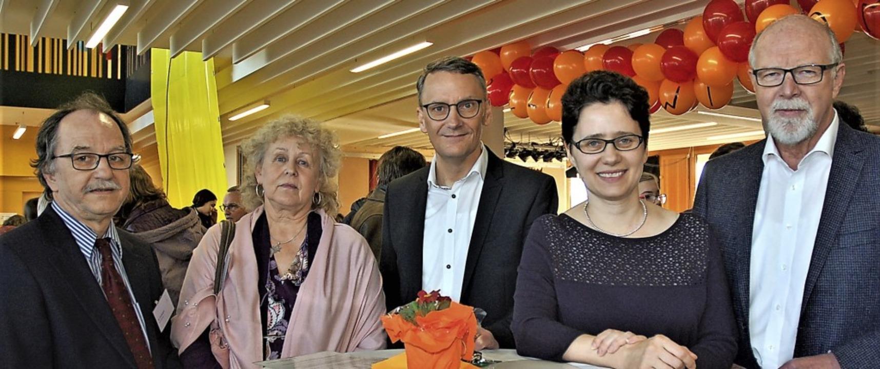 Die Teilnehmer der Podiumsdiskussion d...rt, Marion Gentges und Bertold Meier.   | Foto: Wolfgang Beck