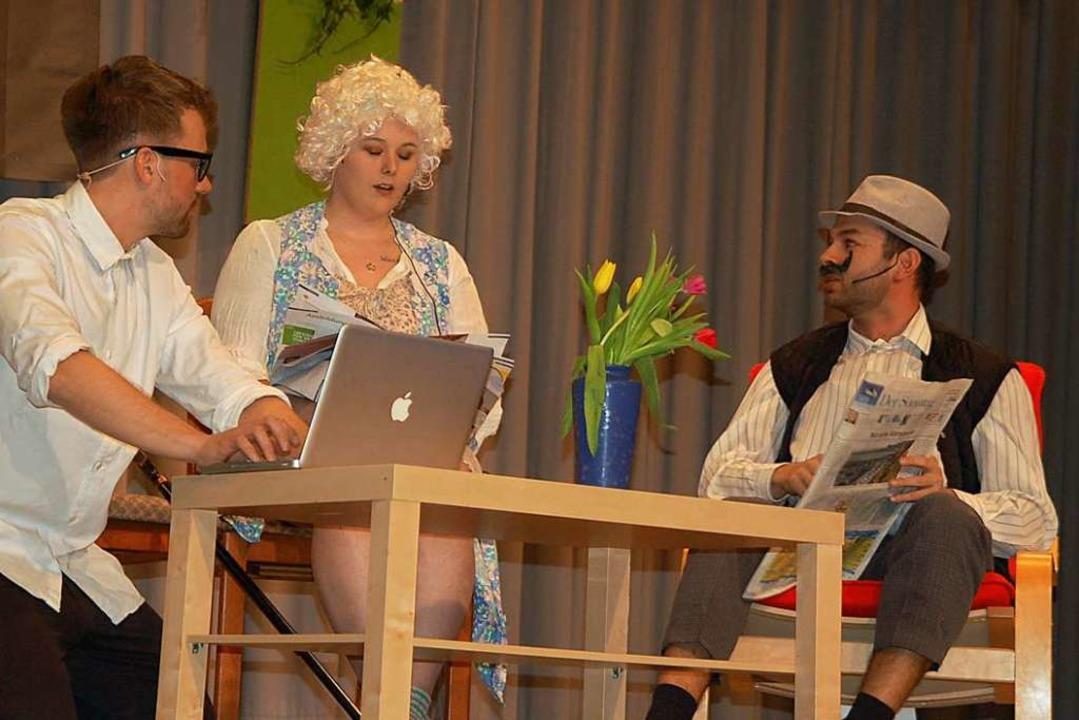 Talentierter Nachwuchs der Buure hier ...), Katherin Traichel und Lukas Altaner    Foto: Petra Wunderle