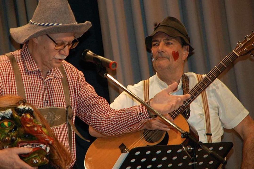 Live Bodo Weiß (links) und Klaus Weber    Foto: Petra Wunderle