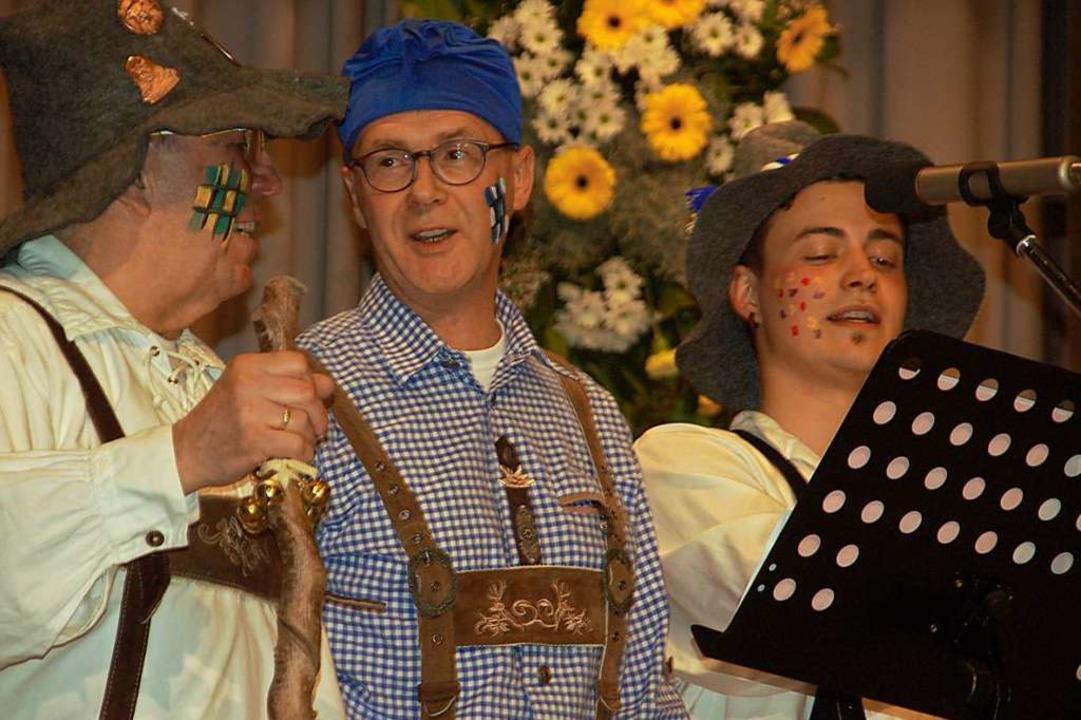 Gesangliche Glanznummer des Gesangvere...(von links), Hartmut Kurz und Max Saur    Foto: Petra Wunderle