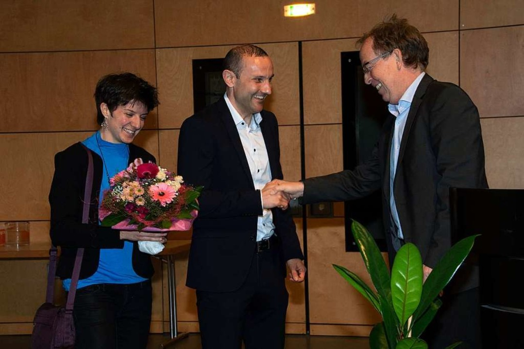 Bürgermeisterstellvertreter Harald Höf...w und dessen Partnerin Corinna Schwab.  | Foto: Volker Münch