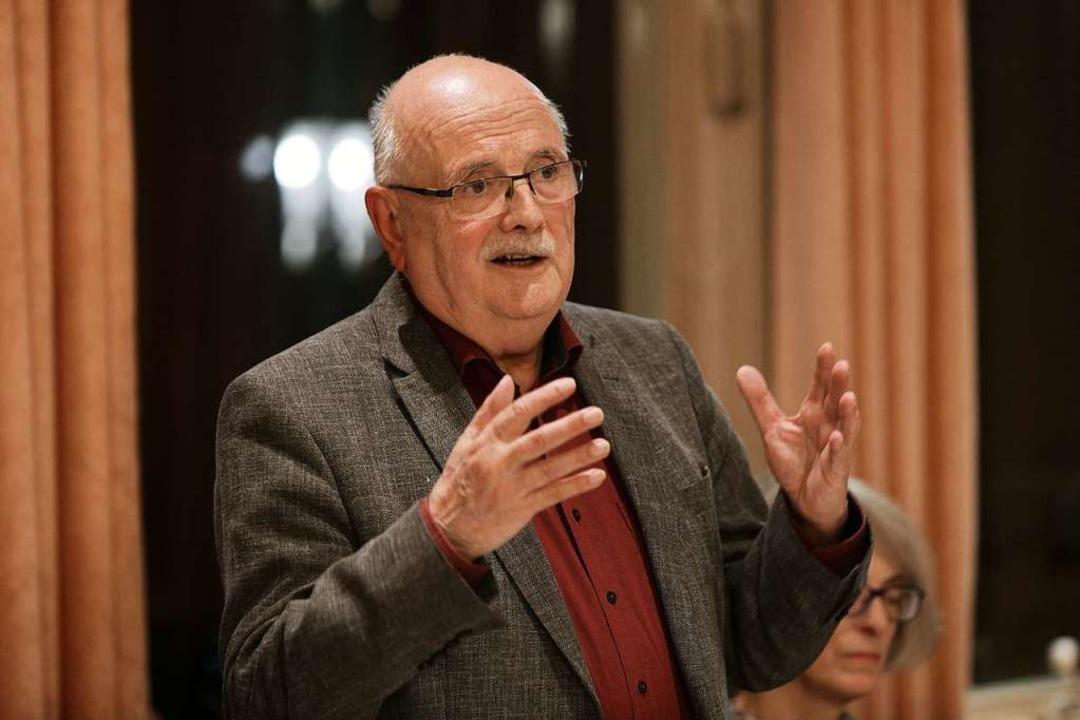 Walter Caroli, der  Langenhard-Beauftragte der Nabu-Bundesstiftung    Foto: Christoph Breithaupt