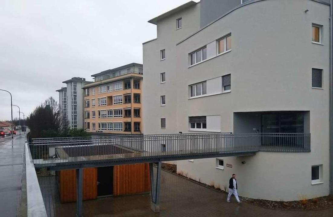 Das neueste Haus der Lebenshilfe in de...er nahen Haltestelle Schwarzwaldstraße  | Foto: Martina David-Wenk