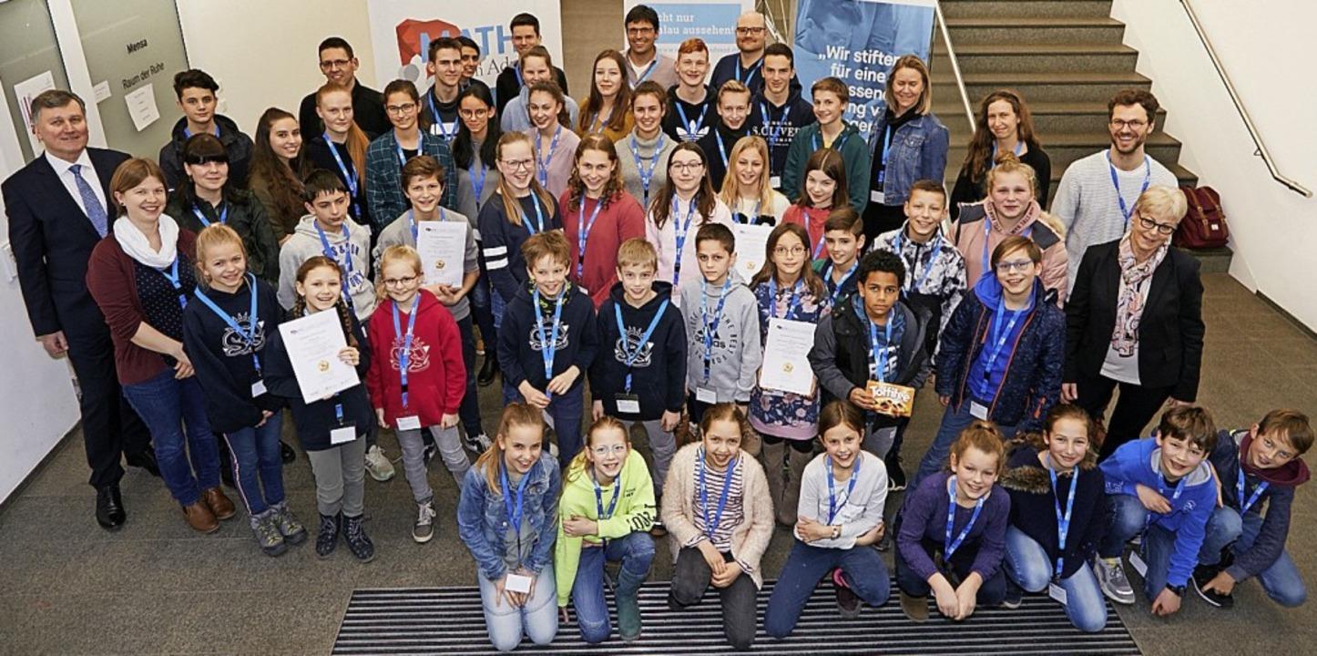 Ihnen macht Mathematik ganz offensicht...ern bei der Preisvergabe in Waldkirch.    Foto: Kai-Uwe Wudtke