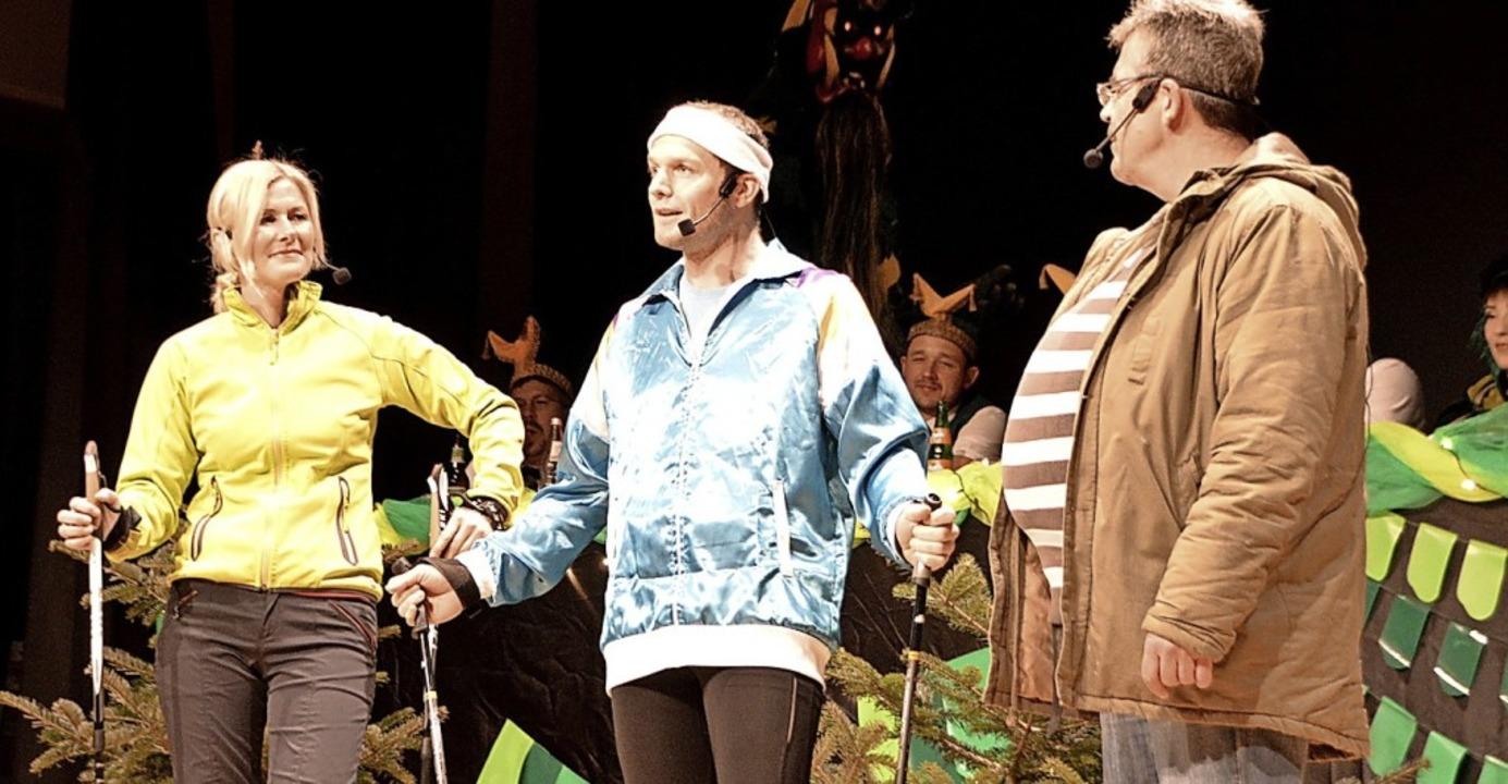 No-Dick-Walking mit Sonja Kult-Martin,...es Freßle und Ralf Brender (von links)  | Foto: Horatio Gollin