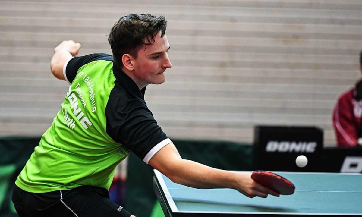 Lasse Barth gewann für die FT 1844 Fre... am Wochenende alle seine vier Einzel.  | Foto: Patrick Seeger