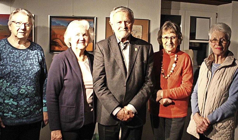 Der Vorstand der Muettersproch-Gsellsc... (von links), es fehlt: Helga Schrank.    Foto: Monika Weber