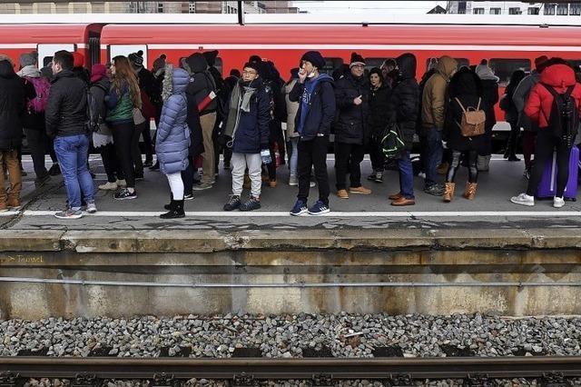 Ansturm auf die Deutsche Bahn
