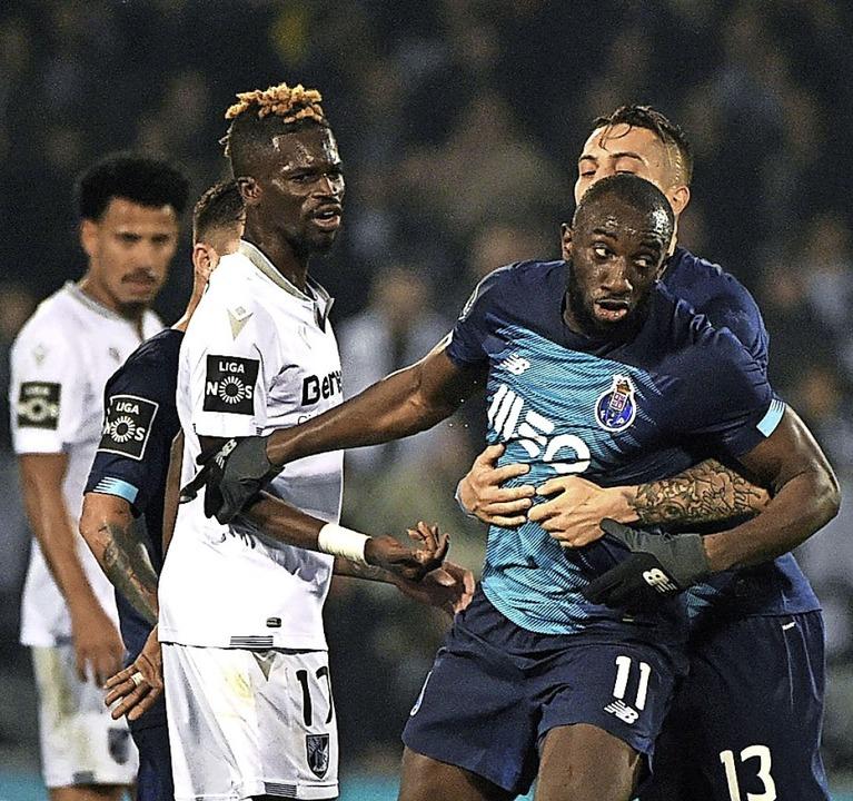 Gleich verlässt Moussa Marega das Spielfeld.  | Foto: MIGUEL RIOPA (AFP)
