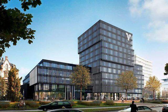Volksbank Freiburg vermietet Hälfte der Flächen ihres Neubaus in der Bismarkallee