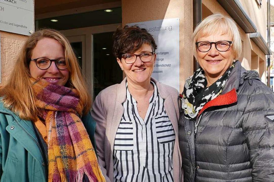 Eine gute Adresse für junge Mütter  is...ge, Beate Schapfel und Magret Gräßlin.    Foto: Susanne Filz