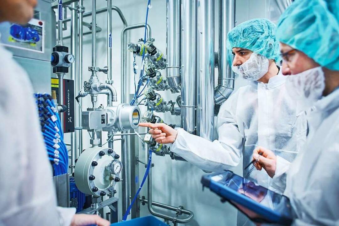 Hochtechnologie-Produkte  aus dem Drei... Endress+Hauser-Messgeräte im Einsatz     Foto: Endress+Hauser