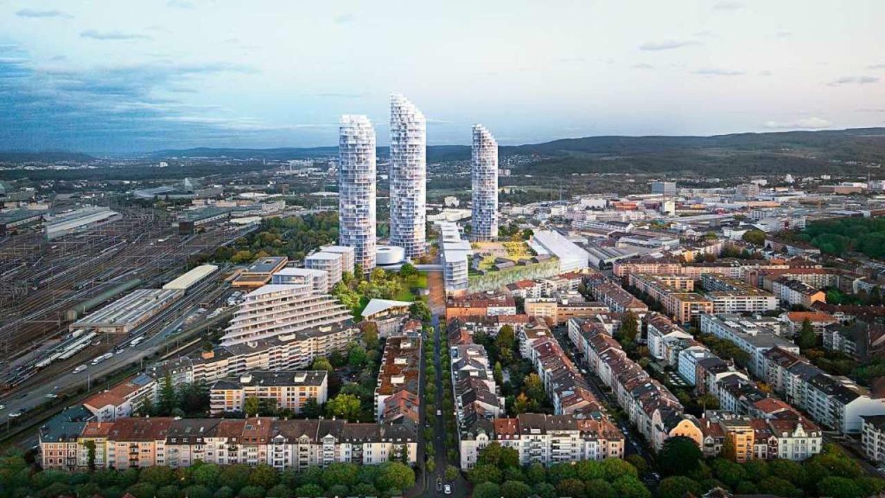 Noch eine Zukunftsvision: Geplante Wohntürme im Basler Dreispitzareal  | Foto: Visualisierung: Herzog & de Meuron