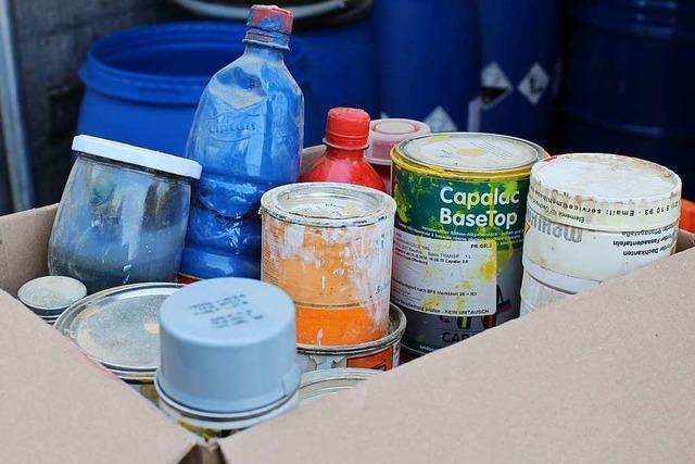 Die Schadstoffsammlung kostet den Landkreis Lörrach mehr Geld