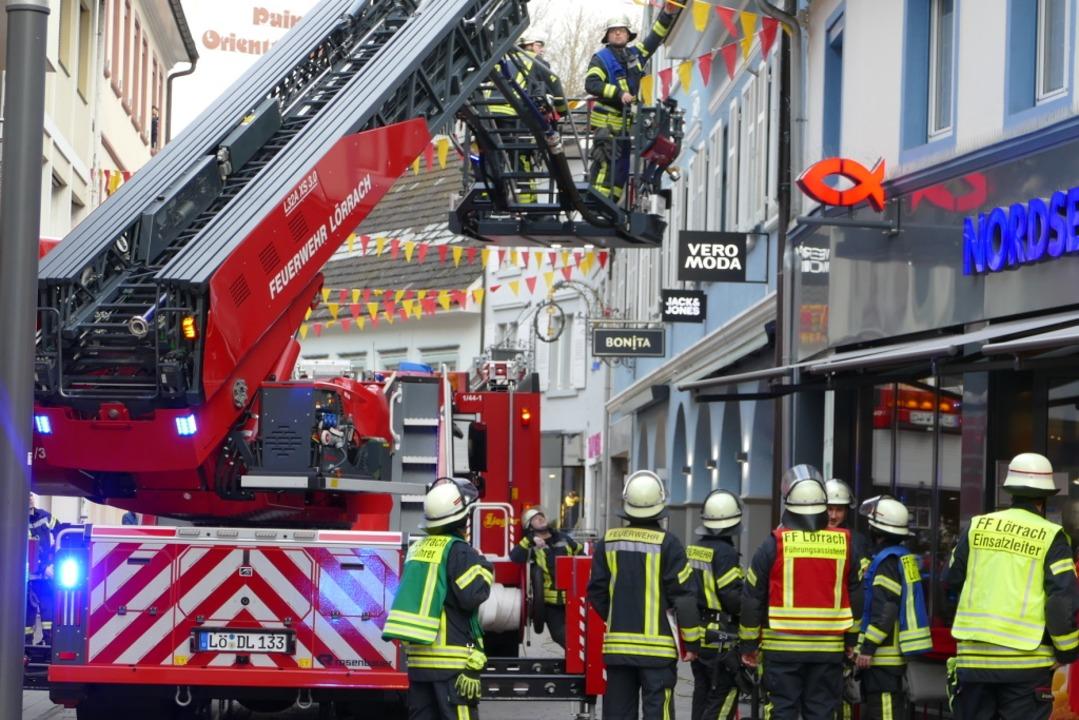 Einsatz in der Innenstadt    Foto: Sabine Ehrentreich