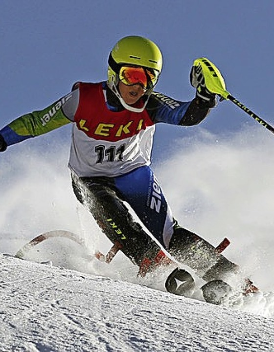 Moritz Krämer beim Leki-Cup.    Foto: Privat
