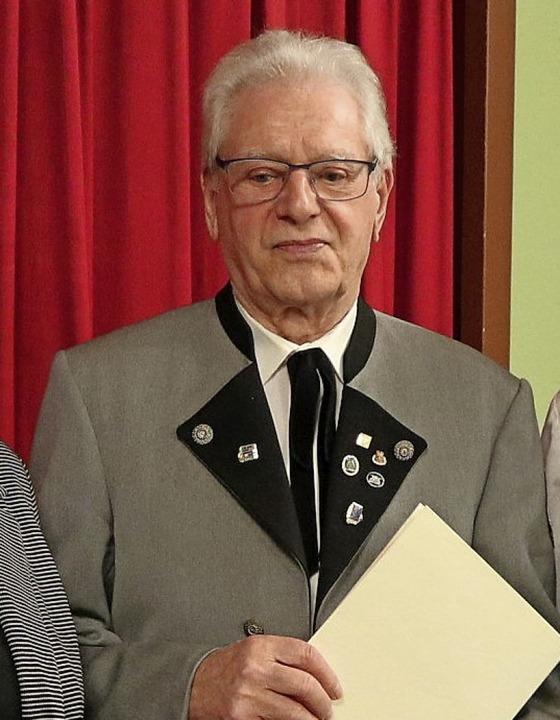 Walter Kern ist seit 70 Jahren dabei.    Foto: Hans-Peter Schmid