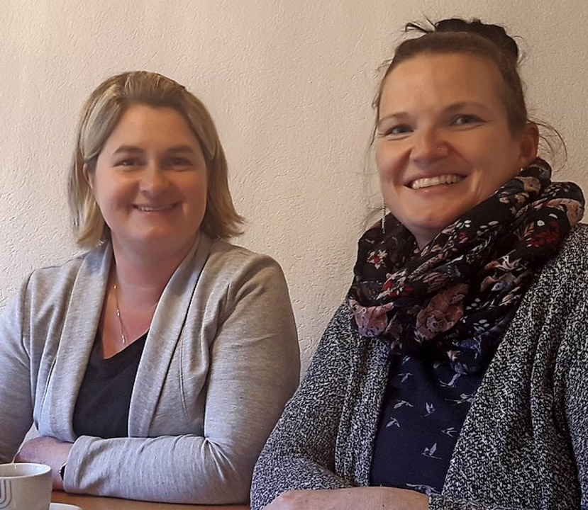 Sie leiten die Selbsthilfegruppe Herzk... und Stellvertreterin Marion Purchase.    Foto:  Olheide, Monika