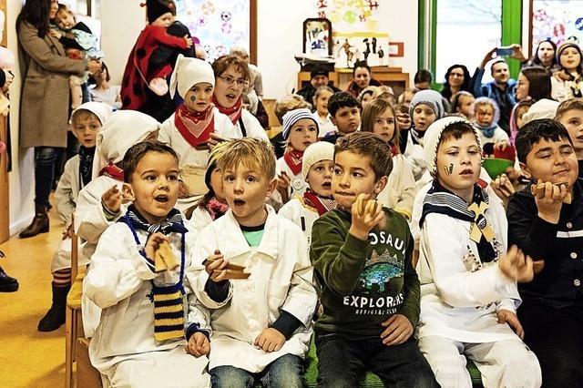 Früh übt sich: In Waldkirch gibt es schon in den Kitas Kläpperlewettbewerbe