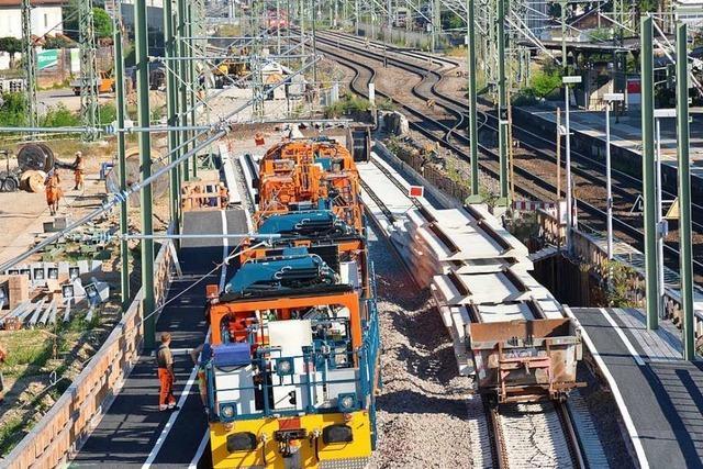 Warum die Bahn für Bauarbeiten in Haltingen eine Explosionsramme braucht