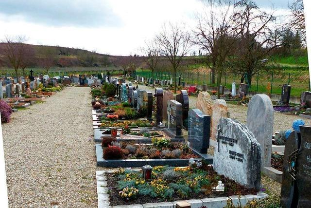 Eichstetten erhöht die Friedhofs- und Bestattungsgebühren
