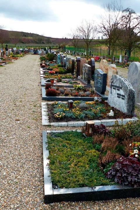Für den Friedhof in Eichstetten wurden Kosten und Gebühren neu kalkuliert.    Foto: Claudia Bachmann-Goronzy