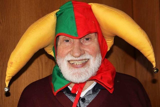 Erwin Seifried hält die Narrenmesse in Heitersheim über die Feindesliebe