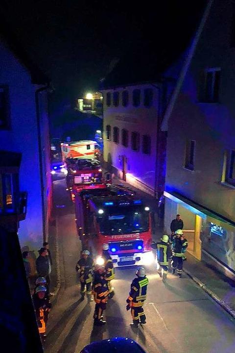 Mitte  Januar brannt es in Ebringen.    Foto: Feuerwehr Ebringen