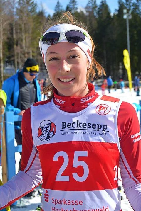 Die Topläuferin des SV Kirchzarten: Louisa Haag  | Foto: Helmut Junkel