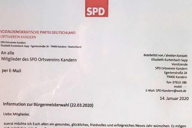 Die SPD in Kandern will sich nicht auf Simone Penner festlegen