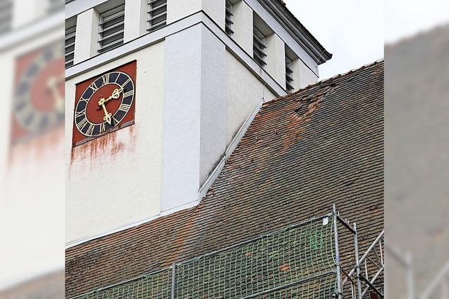 Schaden am Kirchendach
