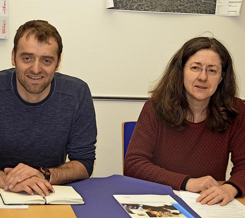 Silke Kaiser und Michael Schmitz gehör...toren des Projektes Jugendbeteiligung.    Foto: Christiane Sahli
