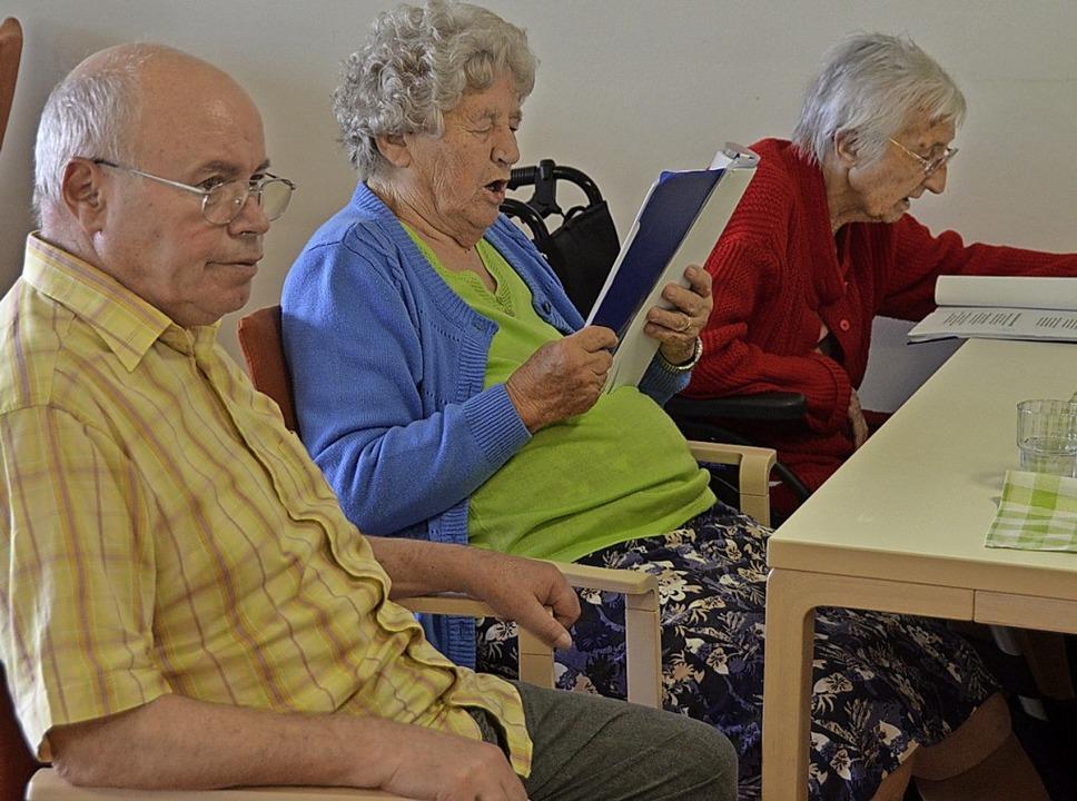 Im Seniorenzentrum  ist man um einen g...üht, die den Bewohnern Freude machen.   | Foto: Victoria Langelott