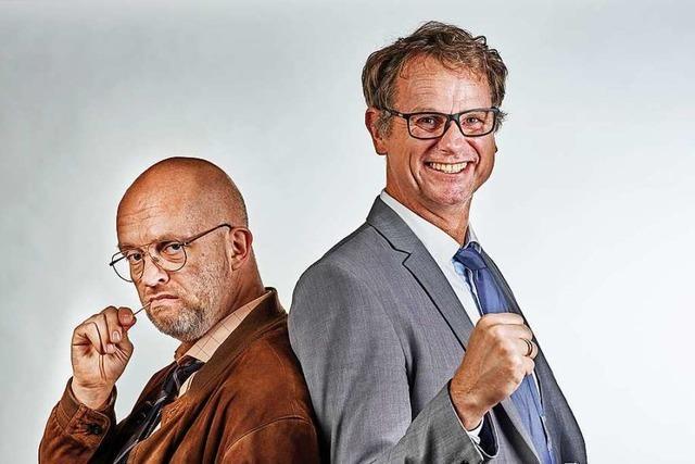 Die Kabarettisten Fischer und Jung kommen ins Vorderhaus