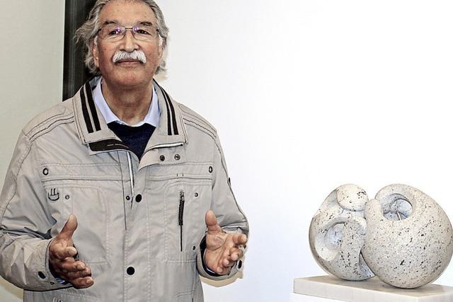 Eine Skulptur aus Granit