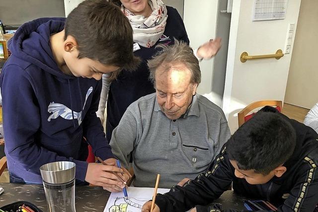 Besuch bei den Senioren