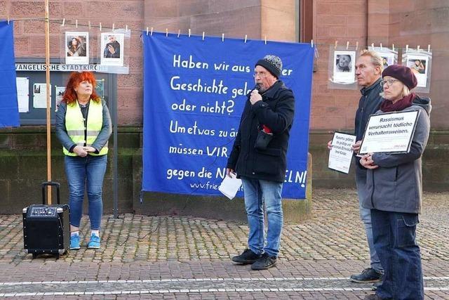 Friedensrat Markgräflerland gedenkt Terror-Opfer von Hanau