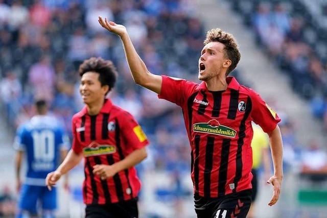 Der SC Freiburg will beim Spiel gegen Düsseldorf locker bleiben