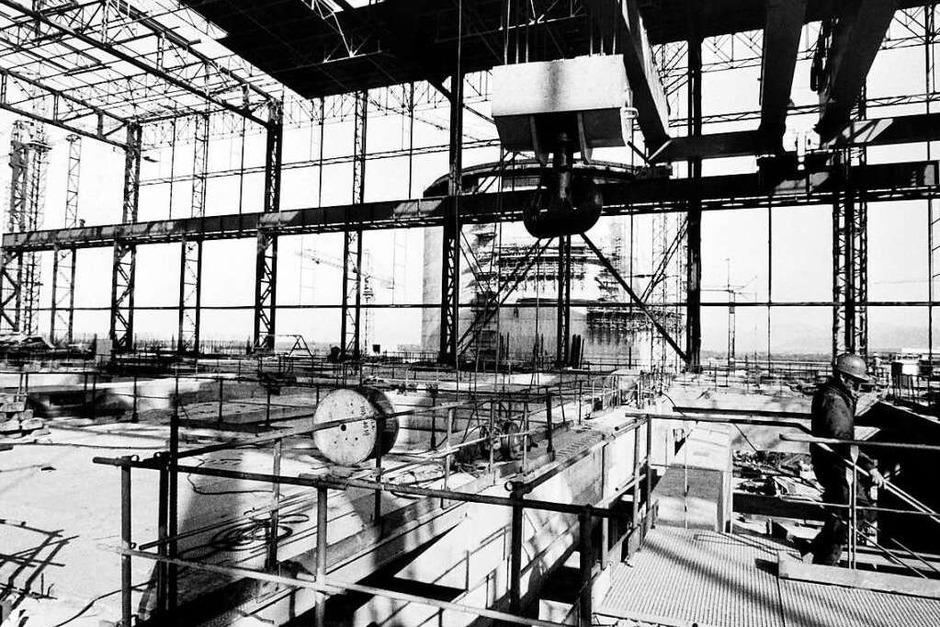 Die Historie des Atommeilers in Fessenheim beginnt mit: Protesten.  Schon in der Bauphase Anfang der 70er-Jahre protestierten im Elsass Gruppen gegen den Bau eines Atomkraftwerks, 1971 wurde der Bauplatz besetzt. (Foto: - (AFP))