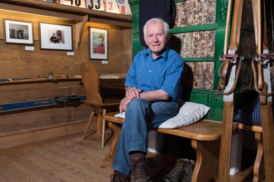Still sitzen ist nicht sein Ding: Geor...eben gerufenen Skimuseum Hinterzarten.  | Foto: Patrick Seeger