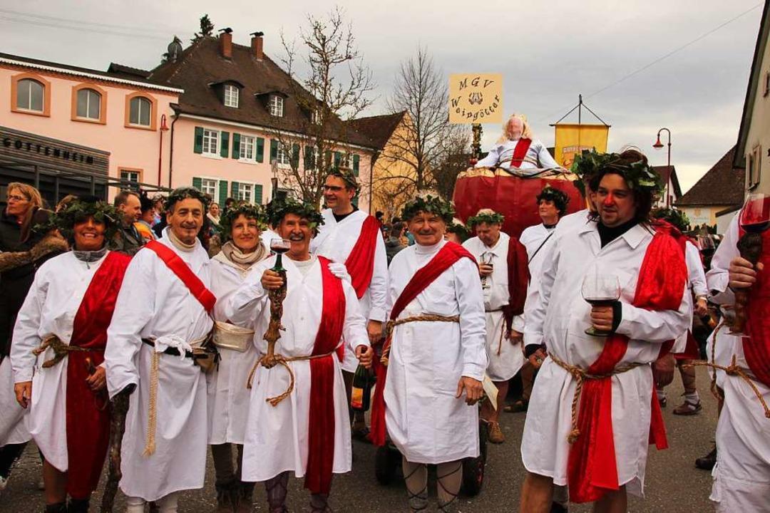 Bacchus, hilf! Der Gesangverein ruft d...istand für den Badischen Winzerkeller.  | Foto: Mario Schöneberg