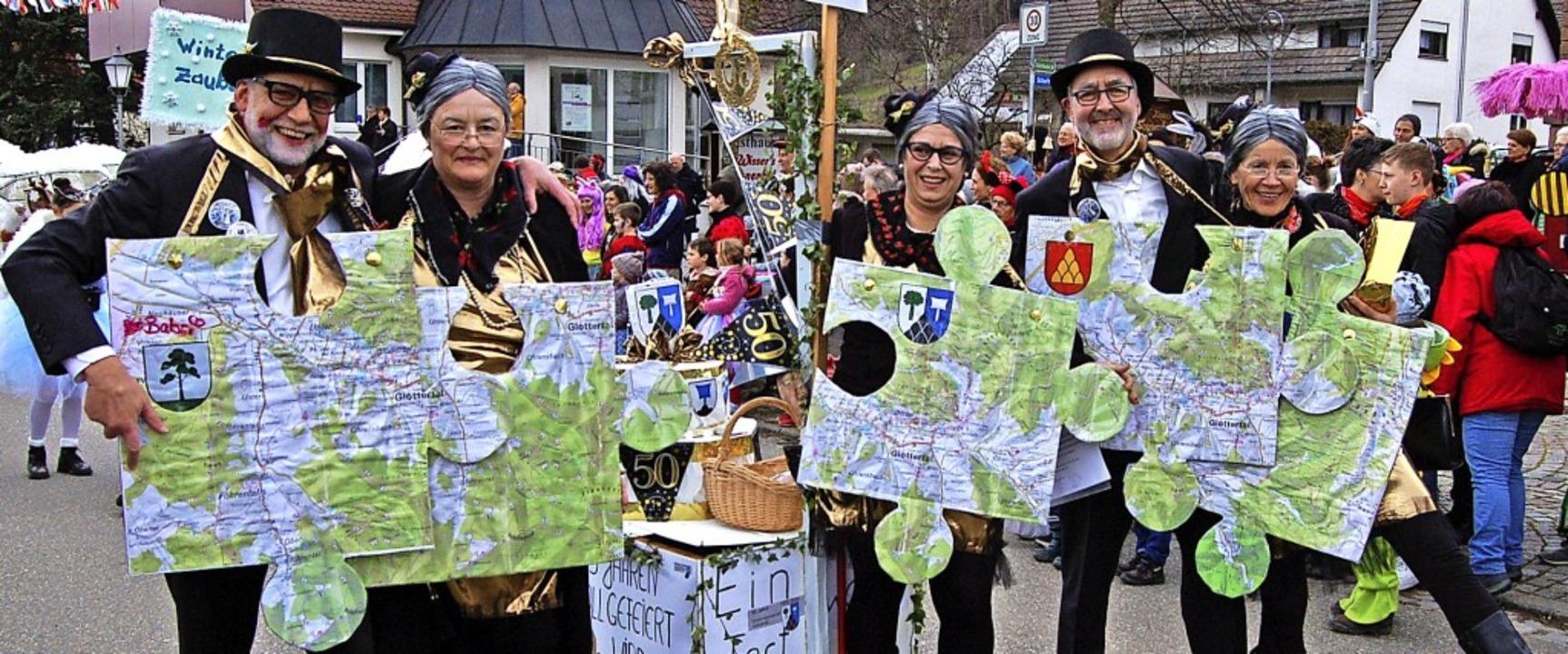 50 Jahre Gesamtgemeinde  Glottertal, d...a machte sich diese Fußgruppe zu eigen    Foto: Christian Ringwald