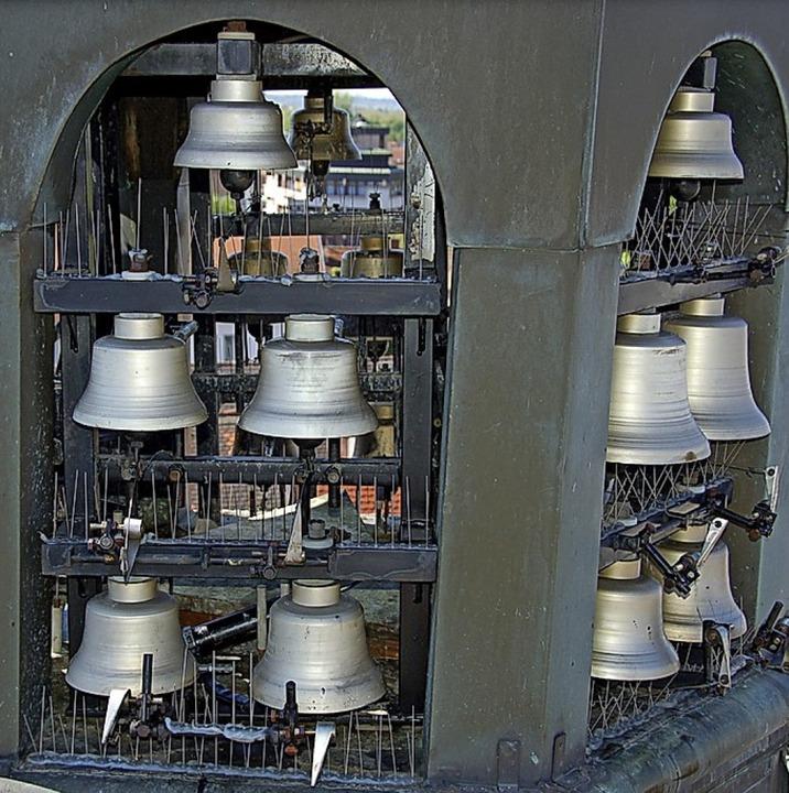 Das Glockenspiel auf dem Offenburger Rathaus.   | Foto: Helmut Seller
