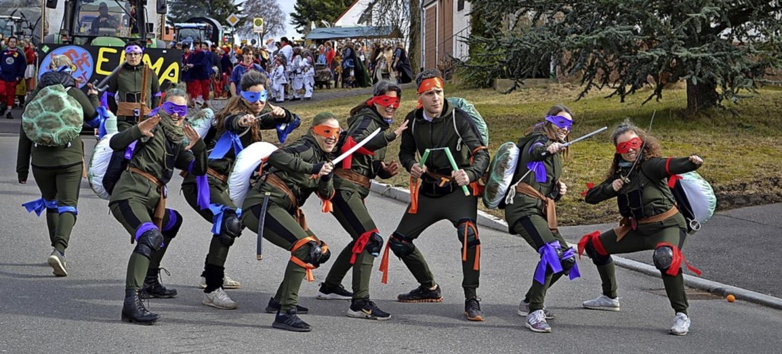 Comic-Helden Teenage Mutant Ninja Turtles on Tour in Rötenbach  | Foto: Liane Schilling